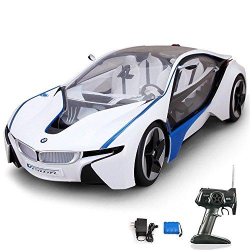 Kamera Autos Mit Ferngesteuerte (BMW i8 Vision Concept Car - RC ferngesteuertes original Modellauto inkl. Fernsteuerung)