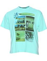 Maxfort Tee shirt homme grande taille Bleu Clair