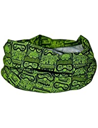 GREEN SNOWBOARDING OWL SCARF- RUFFNEK® Multifunctional Neck warmer/Sweat Head Scarf - Unisex - ONE SIZE for skiing, cycling, running