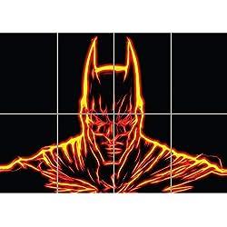 BatFractal. Ilustración en formato Póster de Batman costruido con luces fractales