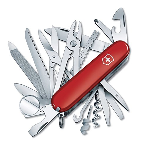 51ROADJXpcL. SS500  - Victorinox Taschenwerkzeug Offiziersmesser Swiss Champ Rot Swisschamp Officer's Knife, Red, 91mm