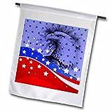 3drose FL _ 62901Multifunktions-Spachtel _ 1rot weiß und blau Sterne und Streifen mit einem Vaterländischen Eagle Head Garden Flagge, 12von 18