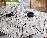 KAMACA Wetterfeste OUTDOOR 130 cm x 160 cm – Tischdecke - Phalatfrei - Öko-Tex 100 - die perfekte Tischdecke für drinnen und draußen - geeignet für Haus, Terrasse, Balkon und Garten - ABWASCHBAR - WIND- und WETTERFEST - WITTERUNGSBESTÄNDIG und WASSER- und SCHMUTZABWEISEND – Neu aus dem KAMACA-SHOP (130 x 160 eckig, Milano Braun)