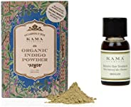 Kama Ayurveda Organic Indigo Powder 100g, Bringadi Intensive Hair Treatment 8ml Combo