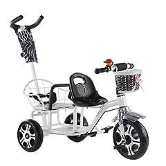 Idea Regalo - Tricicli per bambini biciclette semplici da interno all'aperto 1-4 anni Sedili gemelli