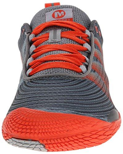 Merrell Vapor Glove 2, Chaussures de Trail Homme GREY/SPICY ORANGE