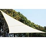 Von–117746–Leinwand Solar Sonnensegel 3x 3x 3m für ombrager Ihren Garten, Ihrer Terrasse oder Ihrem Balkon–Farbe Weiß