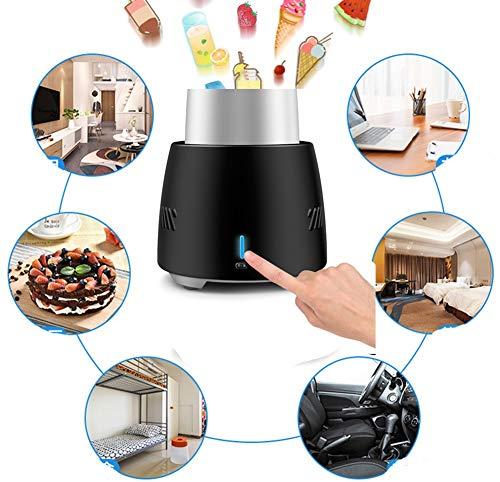 id Cooling Cup Elektronische Eiskübel, tragbare Mini Desktop Elektronische Schnellkühler Kühlschrank Haushaltskühlung Ice Drink Machine (Color : Black) ()