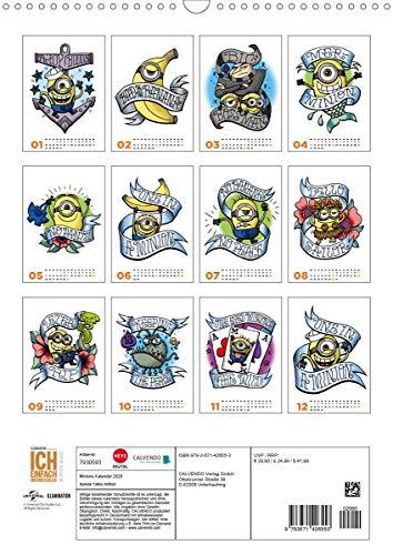 Minions (Wandkalender 2020 DIN A3 hoch)