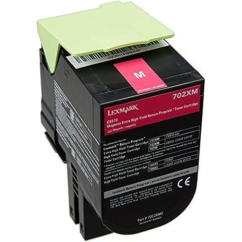 Lexmark 70C2XM0 - Tóner, capacidad 4000 páginas, color magenta