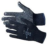 Jah 5030 Baumwolle/Polyester Strickhandschuh 12 Paar Noppen mittelschwer,blau, Gr. 10