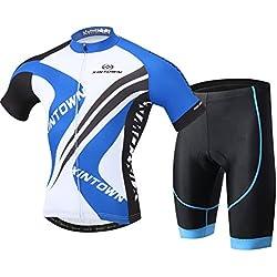 LPATTERN Hombre Ciclismo Traje 2 Piezas Maillot Culote Pantalones Jersy Seca Rápido Transpirable Multicolor Multidiseño M