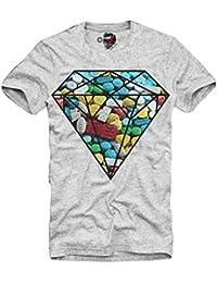 E1SYNDICATE T-SHIRT XTC ECSTASY DIAMOND PARTY RAVE DJ TECHNO KN9A LSD MDMA GRIS S-XL
