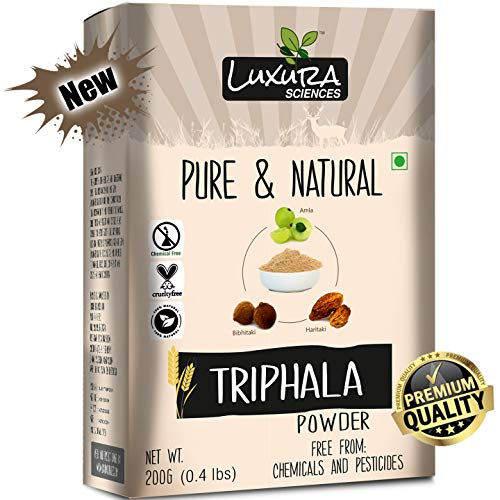 Luxura Sciences Organic Triphala Powder 200 Gms- Balancing Formula for Detoxification & Rejuvenation.