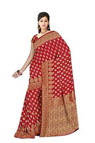 Banarasi Sarees Pure Silk Saree (JMD2DRJ821_Red Gold)