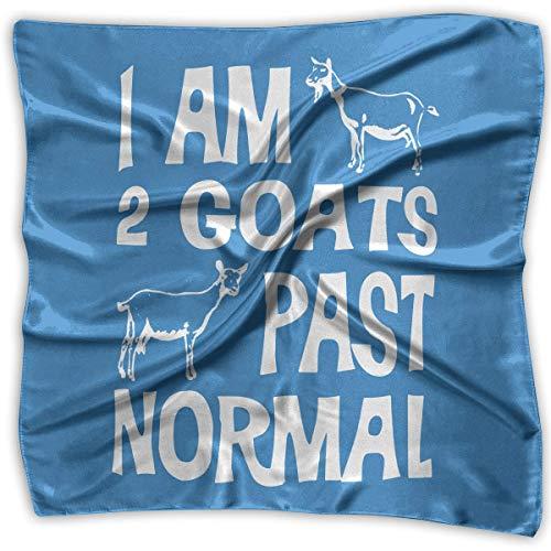 Ich bin 2 Ziegen vorbei an normalem Ziegenquadratschal - Frauen Chiffonschal 100% Polyester Weiß