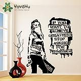 nkfrjz Sticker Mural Banksy Vinyle si Vous Voulez Atteindre la Grandeur Arrêtez de...