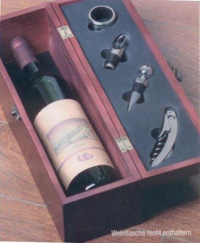 Weinset Sommelier Wein Korkenzieher Holzkiste Kiste Set