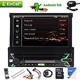 EINCAR Android 9.0 système de Pie Navigation GPS Récepteur stéréo 1 Din Voiture avec caméra de recul, 7' LCD Tactile, WiFi, Bluetooth sans Fil, Miroir Lien, Slot USB SD, AM Radio FM RDS, télécommande