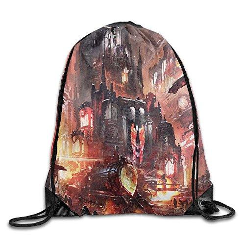 ZZHOO Space Yin Yang1 Drawstring Backpack Bag Beam Mouth School Travel Backpack Shoulder Bags for Men & Women -