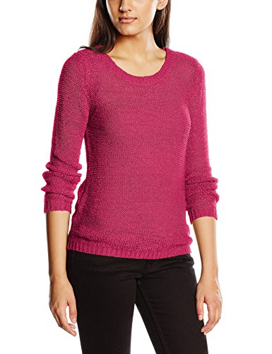 ONLY Damen Onlgeena XO L/S Pullover KNT Noos, Rosa (Pink Peacock), 34 (Herstellergröße: XS)