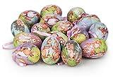 com-four® 16x Uova di Pasqua da Appendere - Decorazione Pasquale con Fantastici Motivi Dipinti - Dimensioni Decorazione Uova di Pasqua: 6,5 cm [la Selezione Varia]