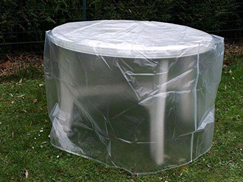 RESIDENCE - Housse De Protection Translucide Table Ronde Ø120 Cm