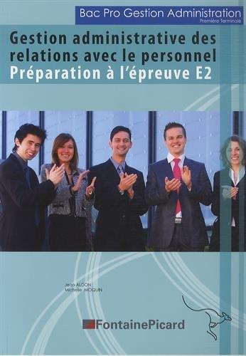 Gestion administrative des relations avec le personnel : Préparation à l'épreuve E2