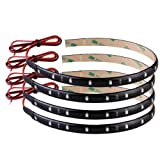 4 STRISCE ADESIVE LUCI 15 LED IMPERMEABILE ARANCIO 30cm