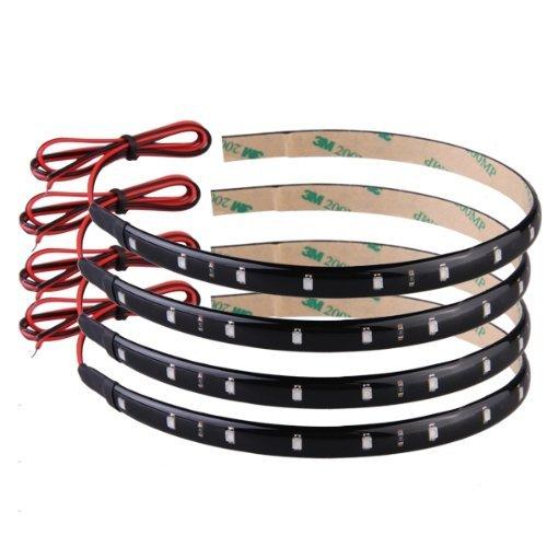 4-strisce-adesive-luci-15-led-impermeabile-arancio-30cm