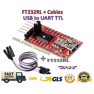 FTDI FT232RL USB to TTL Serial Converter Adapter Module 5V and 3.3V + Cable |FTDI FT232RL USB-zu-TTL-Konverter-Adaptermodul mit 5 V und 3,3 V + Kabel