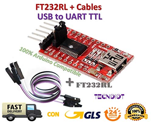 FTDI FT232RL USB to TTL Serial Converter Adapter Module 5V and 3.3V + Cable |FTDI FT232RL USB-zu-TTL-Konverter-Adaptermodul mit 5 V und 3,3 V + Kabel - Ttl-modul