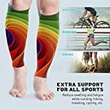 Zcfhike Purple Tie Dye Psychedelic Unisex Leg Compression Calf Sleeve - Helps Calf Leg Pain Relief - For Runners,Sports, Cycling
