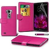 LG G Flex 2 Pink Farbe PU Lederetui Buch-Stil Handy Hülle