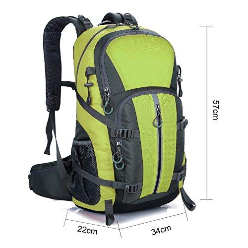 Young & Ming - 45L Unisex Rucksäcke Im Freien Wandern Klettern Freizeit Trekkingrucksäcke Outdoor Taschen Radfahren Reiten Reisetaschen wasserdicht Backpack Grün