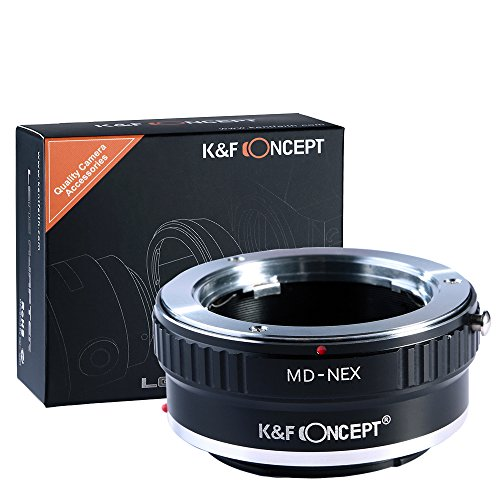K&F Concept® Minolta MD MC auf Sony NEX Alpha E-Mount Adapter | Adapterring Objektivadapter Kamera Ring Objektiv MD-NEX MD/MC (Minolta-kamera-objektiv)