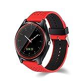 Efanr v9Bluetooth Smart Watch avec caméra emplacement pour carte SIM, montre bracelet Smartwatch podomètre Fitness tracker d'activité moniteur pour Android Samsung iOS iPhone X 8Plus Homme Femme...