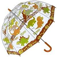 Bugzz PVC Dome Umbrella for Children - Roaring Stomping Dinosaurs