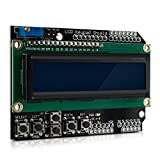 kwmobile LCD Display Module für Arduino - Screen Anzeige mit 2x16 Zeichen und 5 Tasten - Arduino Zubehör