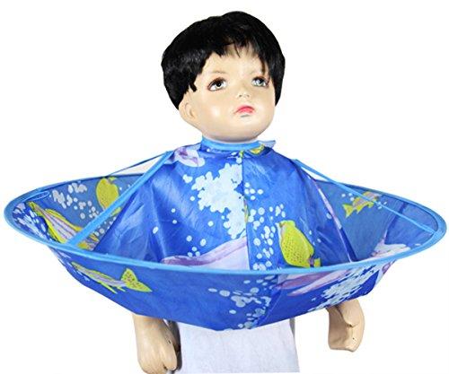 LOVE STUDIO,Capa de peluquería Cabello de los niños Capa del pelo Capa de pelo Cuidado Manténgase limpio,Azul