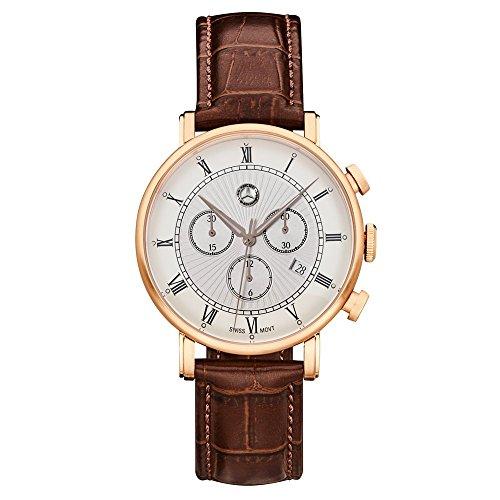 'Mercedes Benz original Hombre Reloj de pulsera Cronógrafo Classic Retro Gold