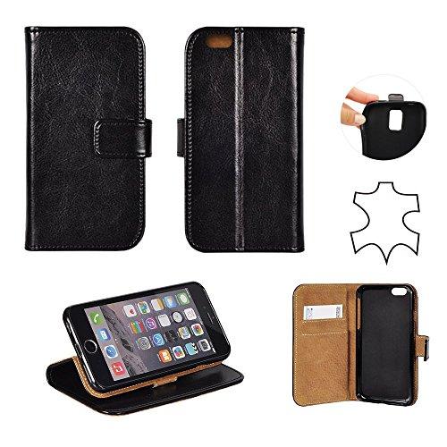 Echt Leder BOOK CASE SPEZIAL schwarz für Samsung Galaxy J5 J500F SM-J500FZ SM-J500F/DS Flipcase Cover Case Hülle Handy Tasche Handytasche Echtleder aus echtes Leder Buchform