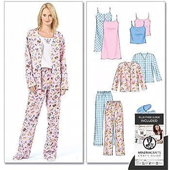 Butterick Schnittmuster 4406 Damen-Schlafanzug Größen XS-S-M: Amazon ...