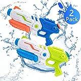 Bheddi Pistolet à Eau, Pistolets à Eau pour Enfants et Adultes, Jouets de Grande capacité pour Pistolet à Eau pour Jeux de Combat en Plein air sur la Plage (2 Pack)