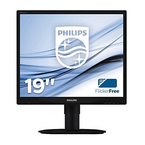 Philips 19B4LCB5/00 48,3 cm (19 Zoll) Monitor (VGA, DVI, höhenverstellbar, Pivot) schwarz