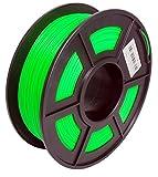 3D Druckmaterialien Filament PLA Filamento 1,75 mm, Maßgenauigkeit +/- 0,02 mm, 1 kg (Grün)