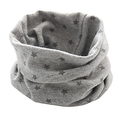 Longra Schals Kinder Baby Jungen Mädchen Baumwolle Schal O Ring Hals Baby Schals Herbst Winter Kinder Baumwollschals Warme Schals loop schal Hals Wärmer(0-3Jahre (Gray)