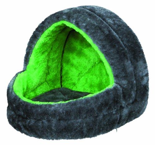 Trixie 6296 Kuschelhöhle, Kleintiere, 25 × 25 × 29 cm, grau/grün