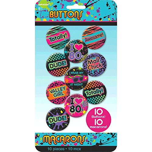 ly 80s Buttons/Knöpfe ()