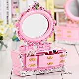 Viel Spaß Rosa Kommode Spieluhr mit Schminkspiegel für kleines Mädchen Geschenk